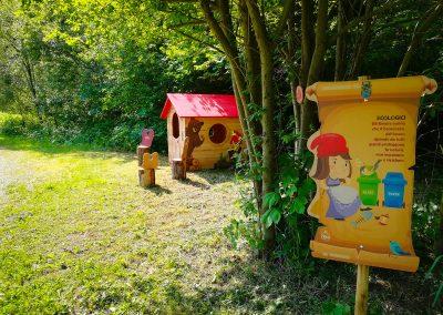 percorso nel bosco, crea parchi, percorso didattico, gnomi del bosco, giocabosco, Tarvisio, Udine.