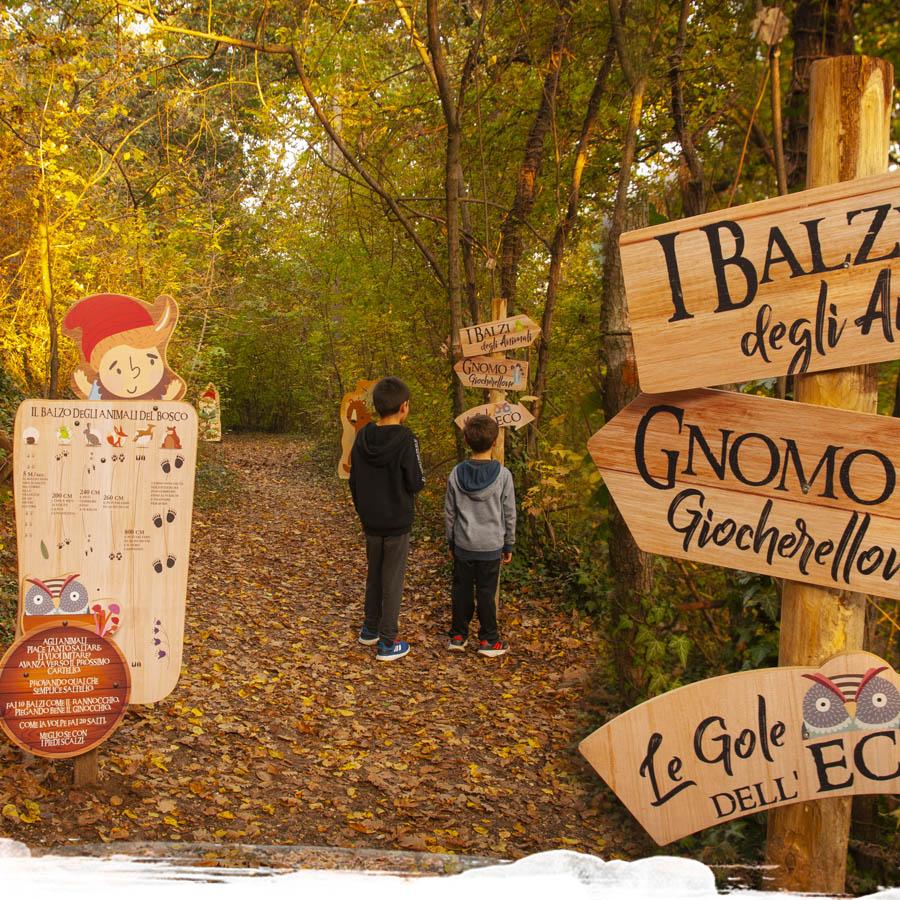 parco tematico Giocabosco di Gavardo, parco a tema nel bosco in legno, parco didattico