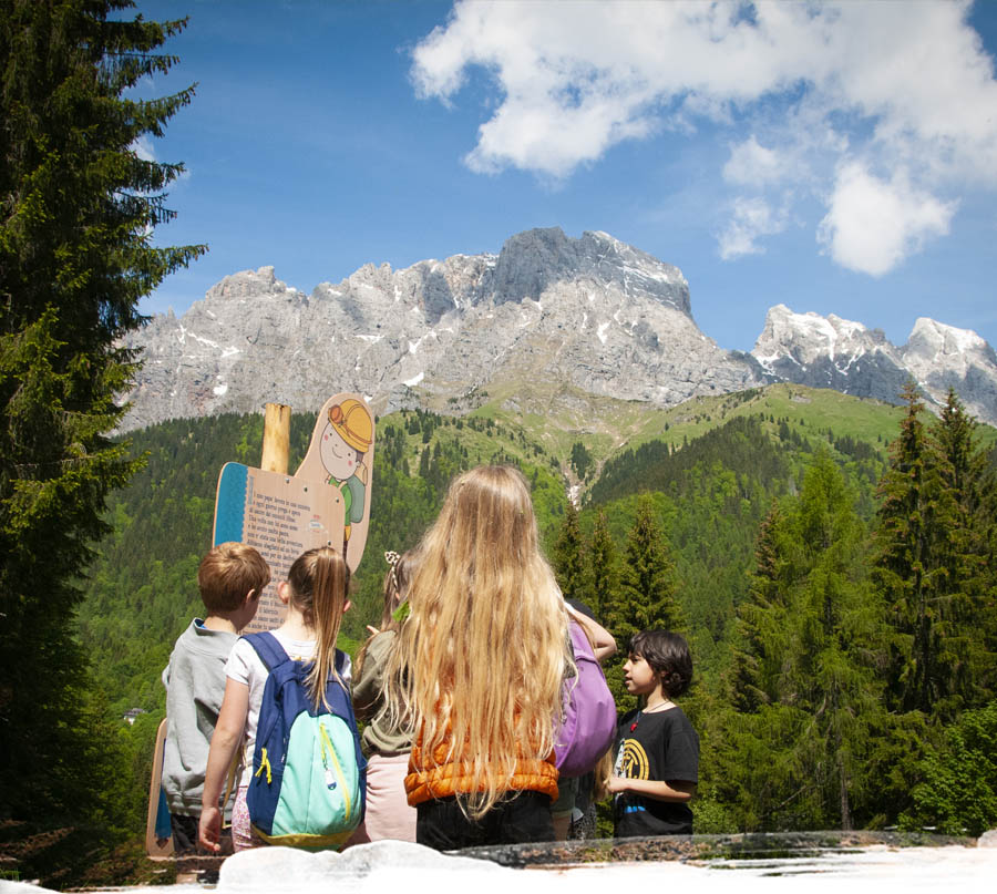 parco temattico Gosaldo, Belluno, parco a tema nel bosco in legno, parco didattico